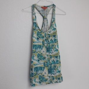 Tommy Bahama Relax Tank Knot Back Tropical Palms